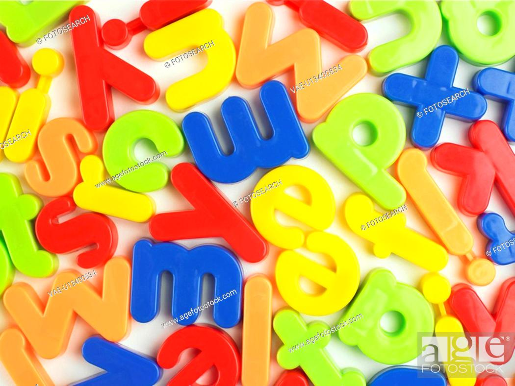 Stock Photo: Magnetic letters close-up.