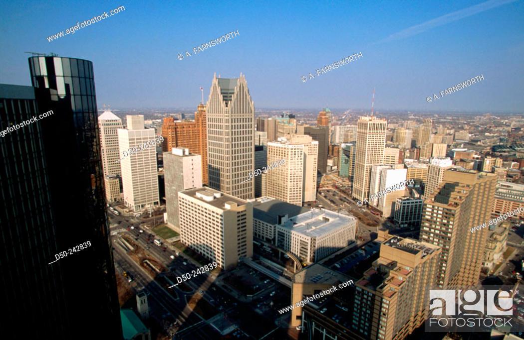 Stock Photo: Skyline. Detroit. Michigan. U.S.A.