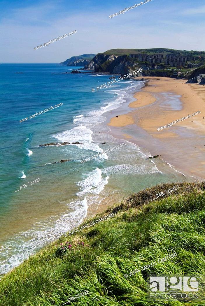 Stock Photo: Beach, Sopelana. Biscay, Euskadi, Spain.