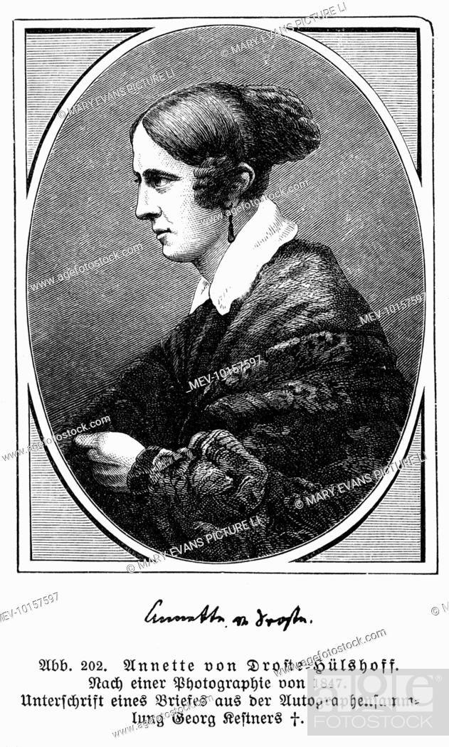 Stock Photo: ANNETTE ELISABETH, freiin von DROSTE-HULSHOFF German writer.