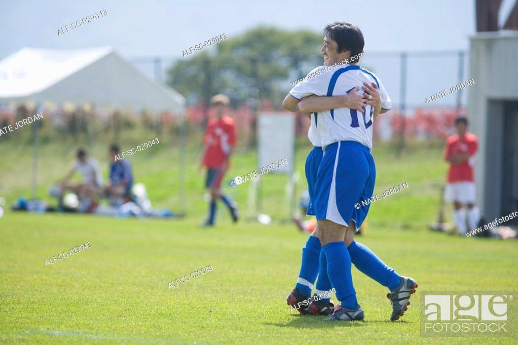 Stock Photo: Soccer Players Celebrating.