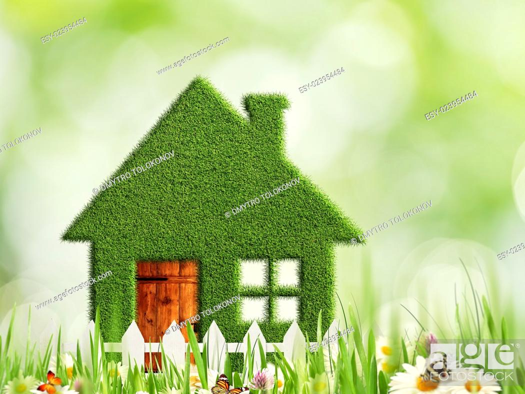 Stock Photo: Green house, abstract eco and environmental backgrounds.