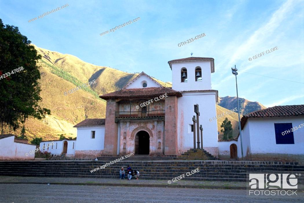 Stock Photo: The 17th century Sistine Chapel of the Americas in the Andean village of Andahuaylilles, Peru.