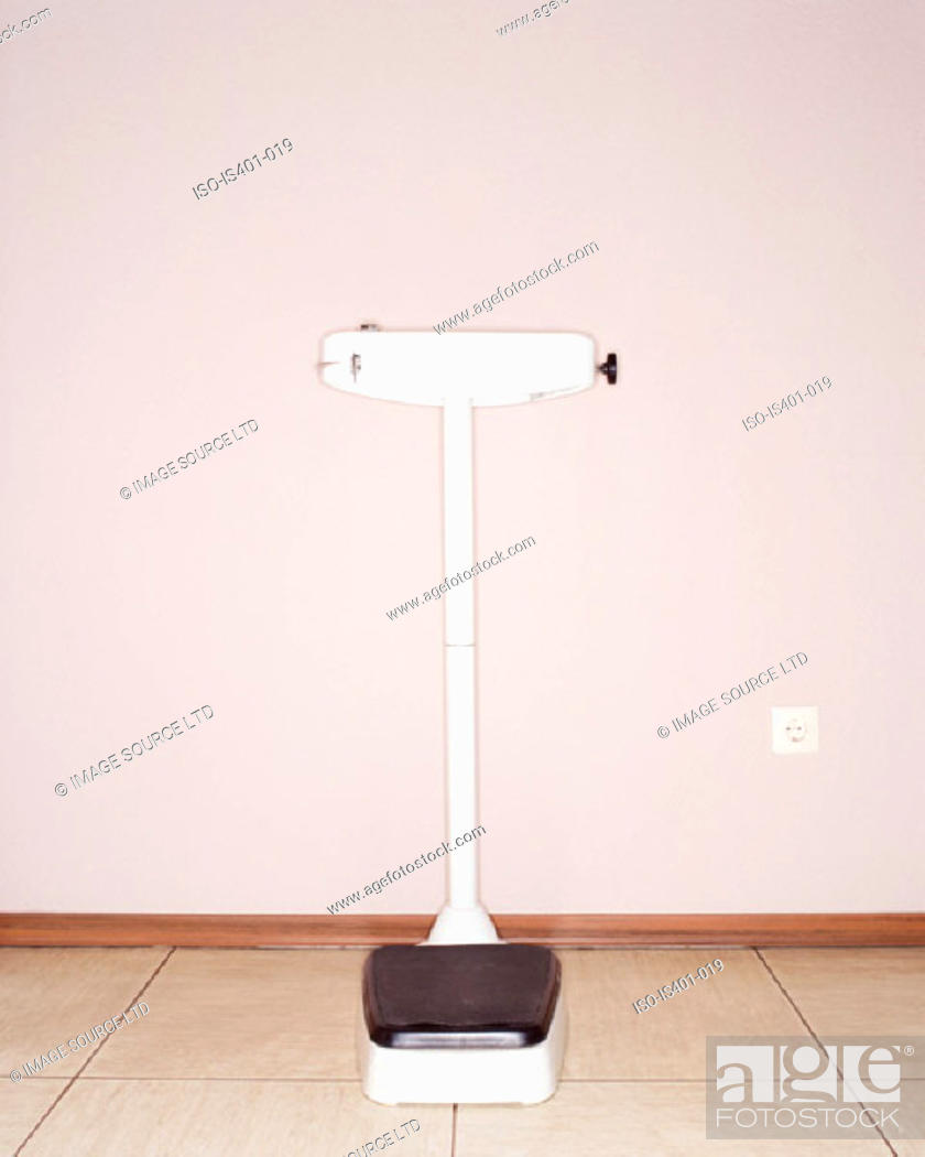 Stock Photo: Weight scales in hospital.