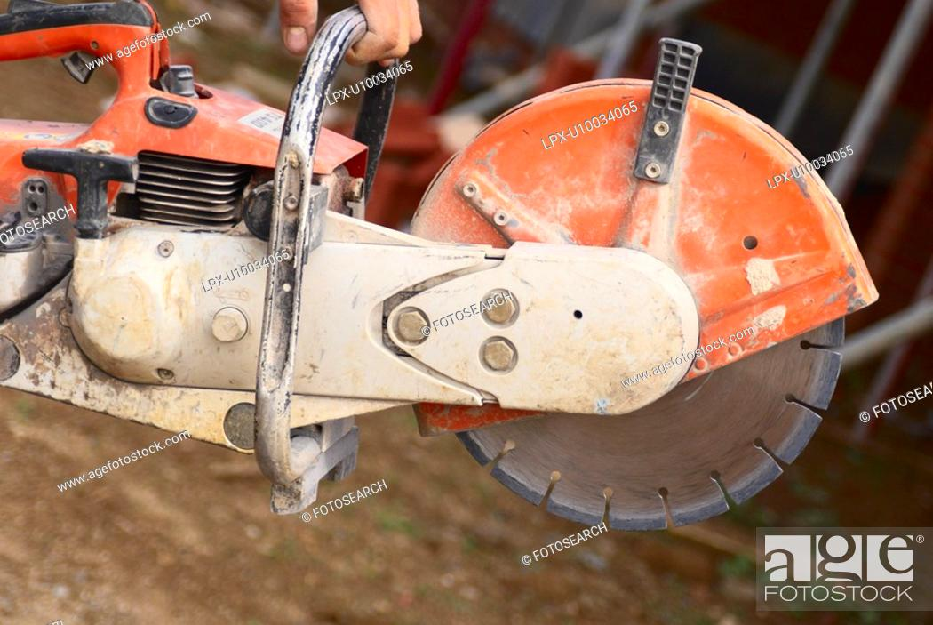 Stock Photo: Close up of a petrol cutter.