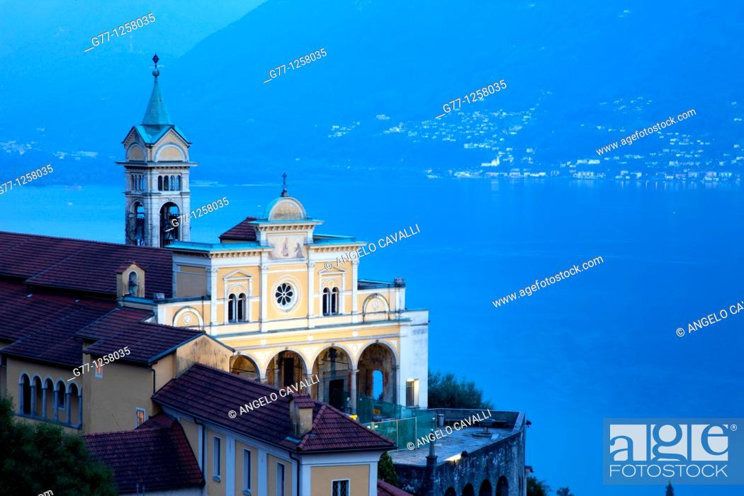 Stock Photo: Locarno, Lake Maggiore, Ticino, Switzerland.