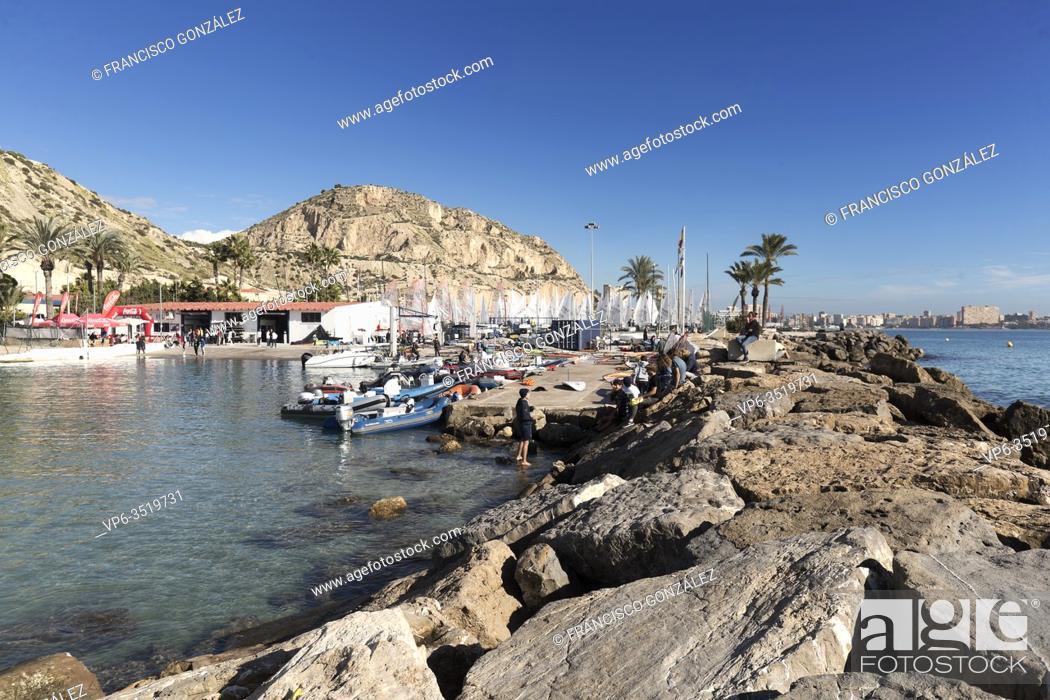 Stock Photo: Views of the Real Club de Regatas of Alicante in December 2019, Alicante, Spain.