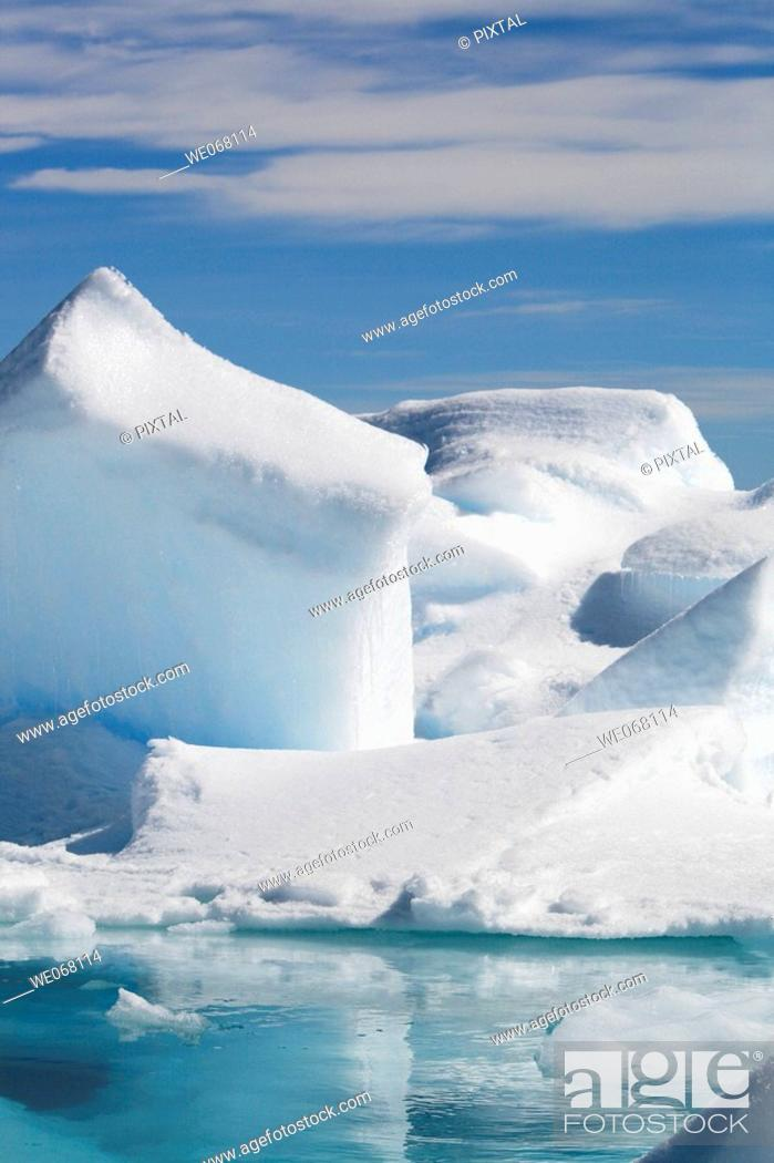 Imagen: Icebergs in the Weddell Sea off the east coast of the Antarctic Peninsula. Ice is melting in this area of Antarctica at an alarming rate.