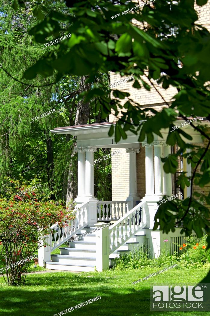 Stock Photo: Porch of a country house.