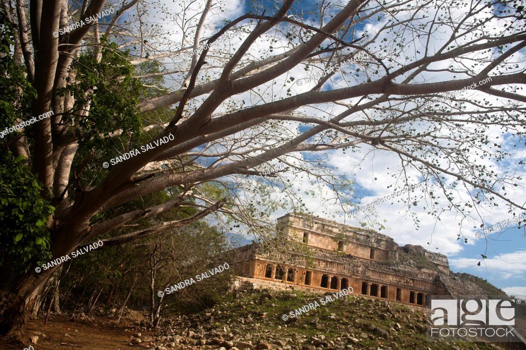 Stock Photo: Mayan arqueological site Sayil, Yucatan, Mexico.