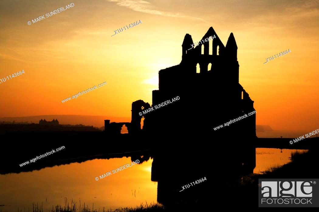 Stock Photo: Whitby Abbey Whitby Yorkshire England.