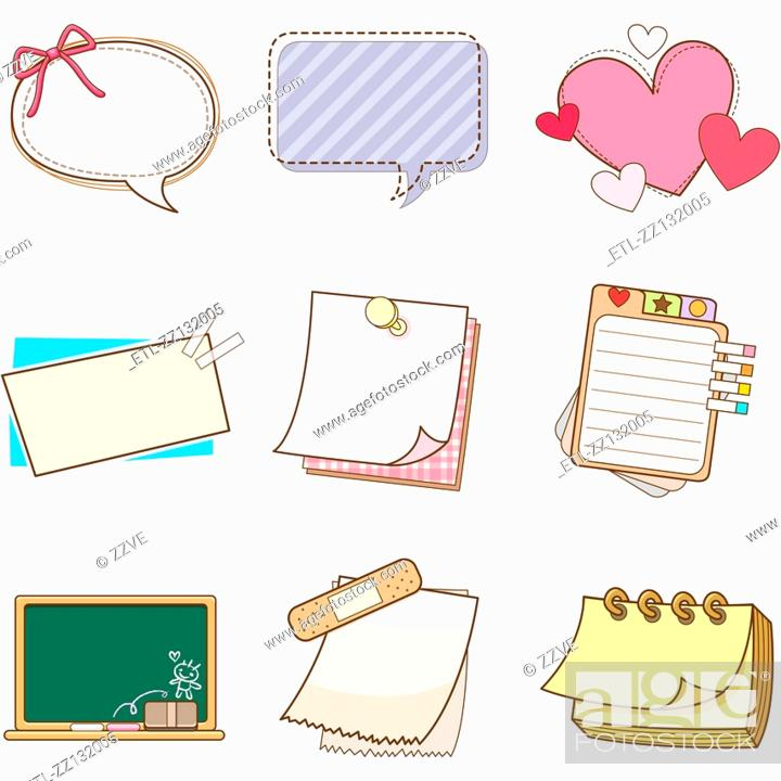 Stock Photo: The pattern of various memo.