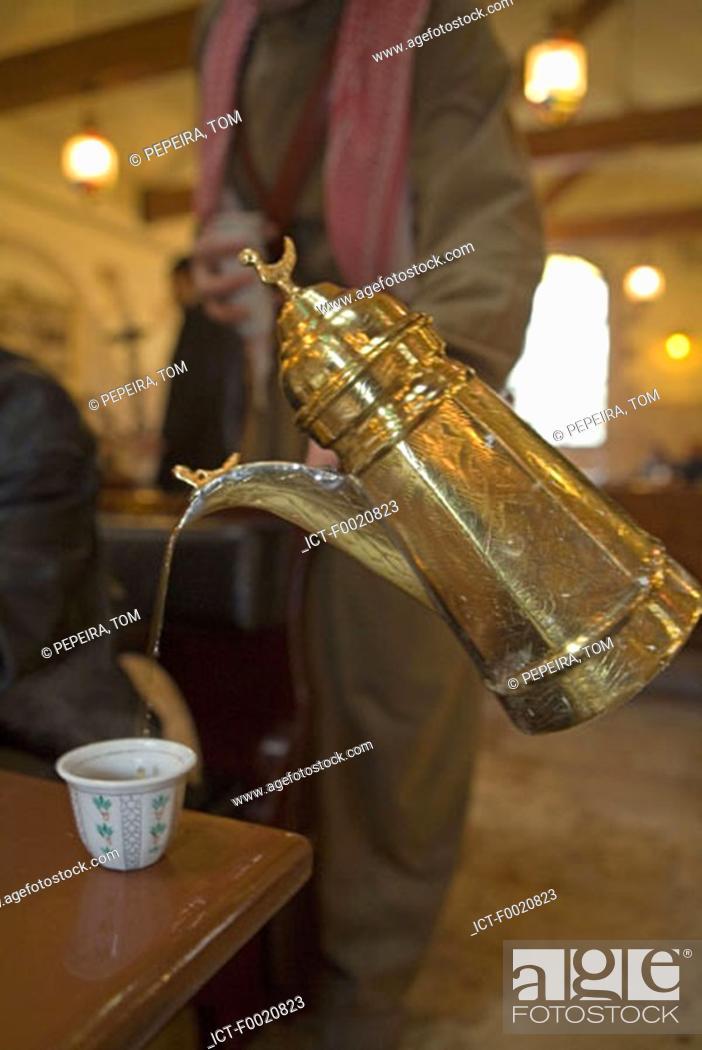 Stock Photo: Jordan, Amman, traditional coffee.