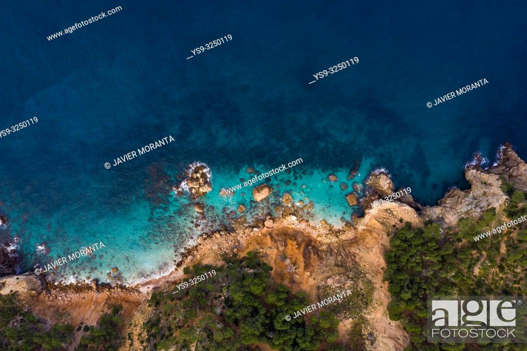 Stock Photo: Aerial photography of the north coast of the island of Mallorca.