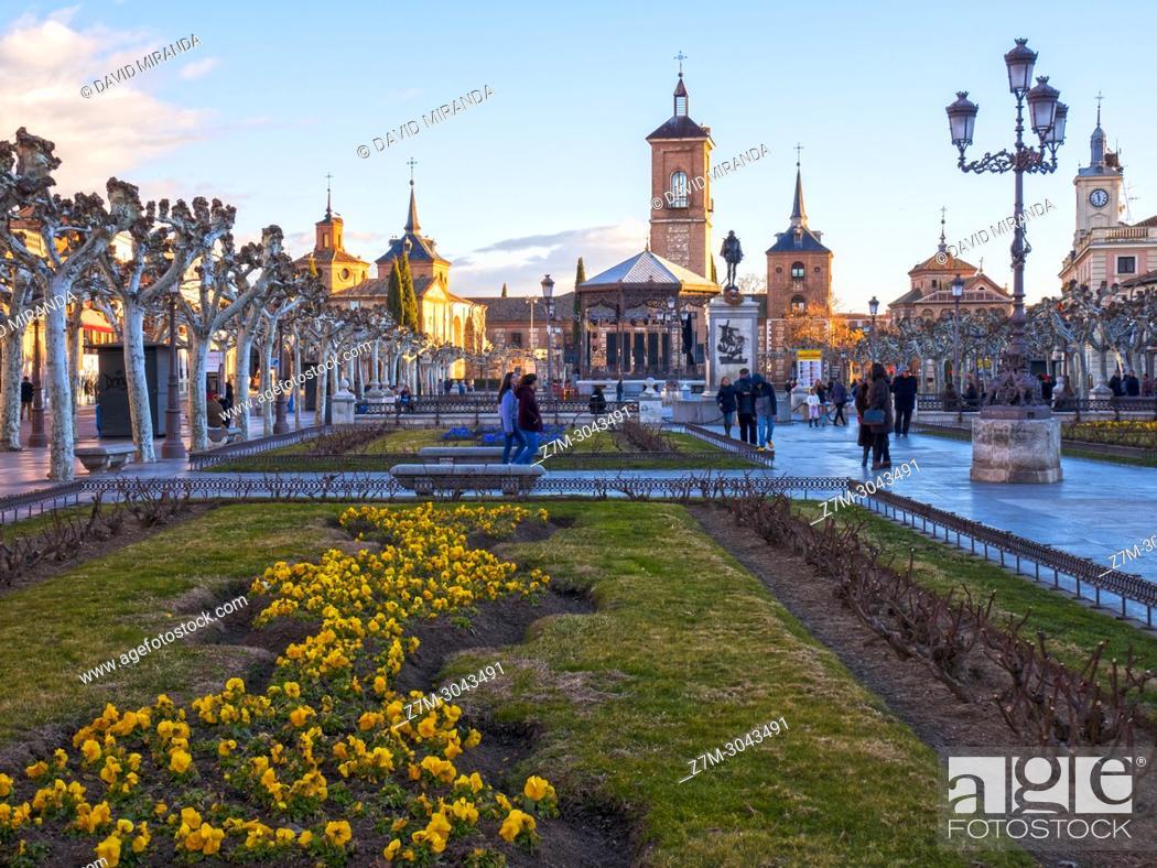 Stock Photo: Plaza de Cervantes. Alcalá de Henares. Madrid province. Spain.