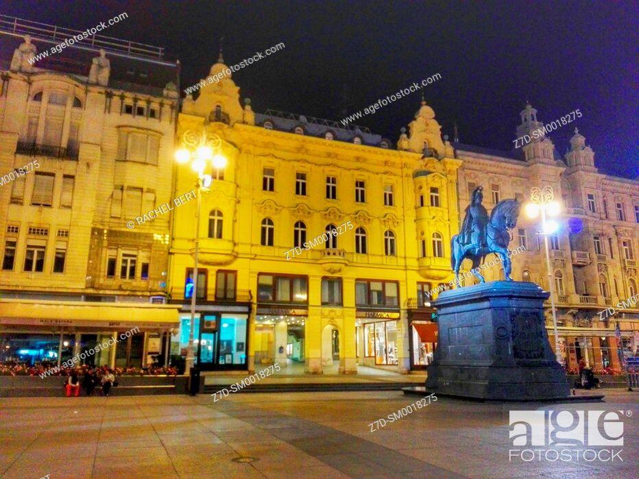Stock Photo: Ban Jelacic Square, Zagreb, Croatia.