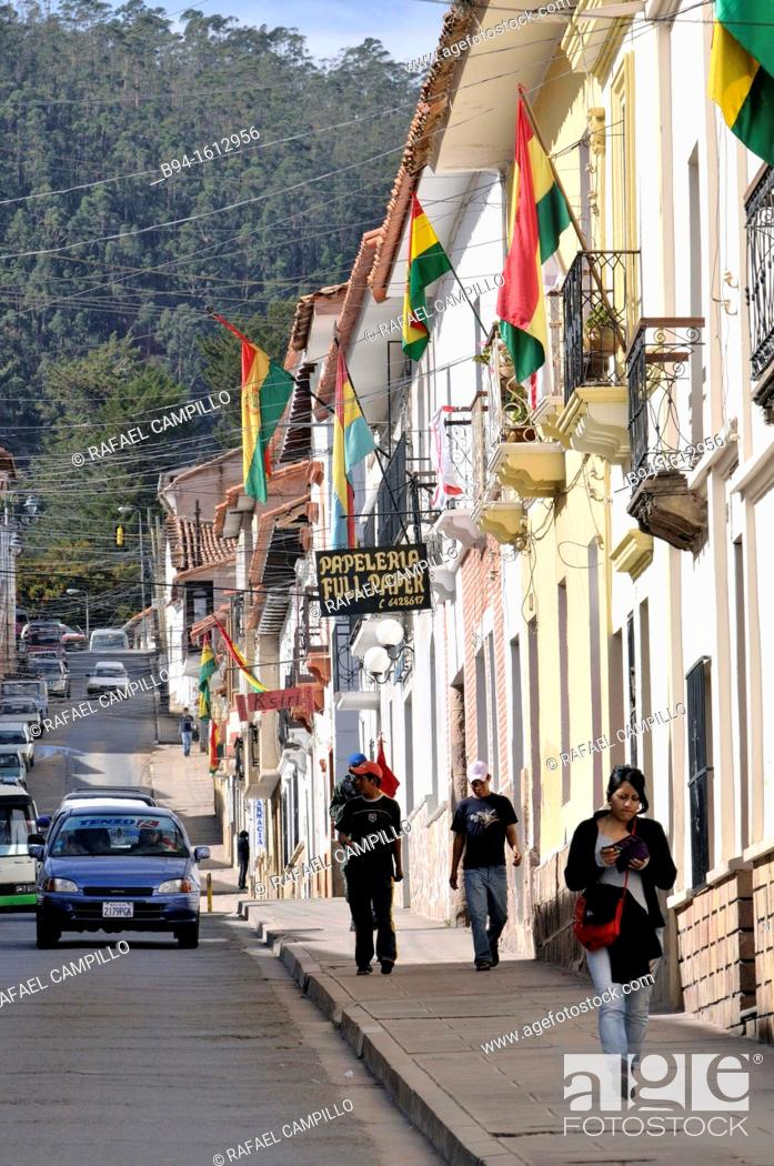 Stock Photo: Sucre, also known historically as Charcas, La Plata and Chuquisaca is the constitutional capital of Bolivia and the capital of the department of Chuquisaca.