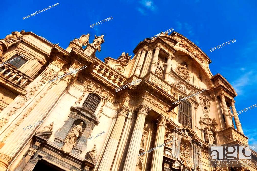 Stock Photo: Cathedral Church of Saint Mary in Murcia.