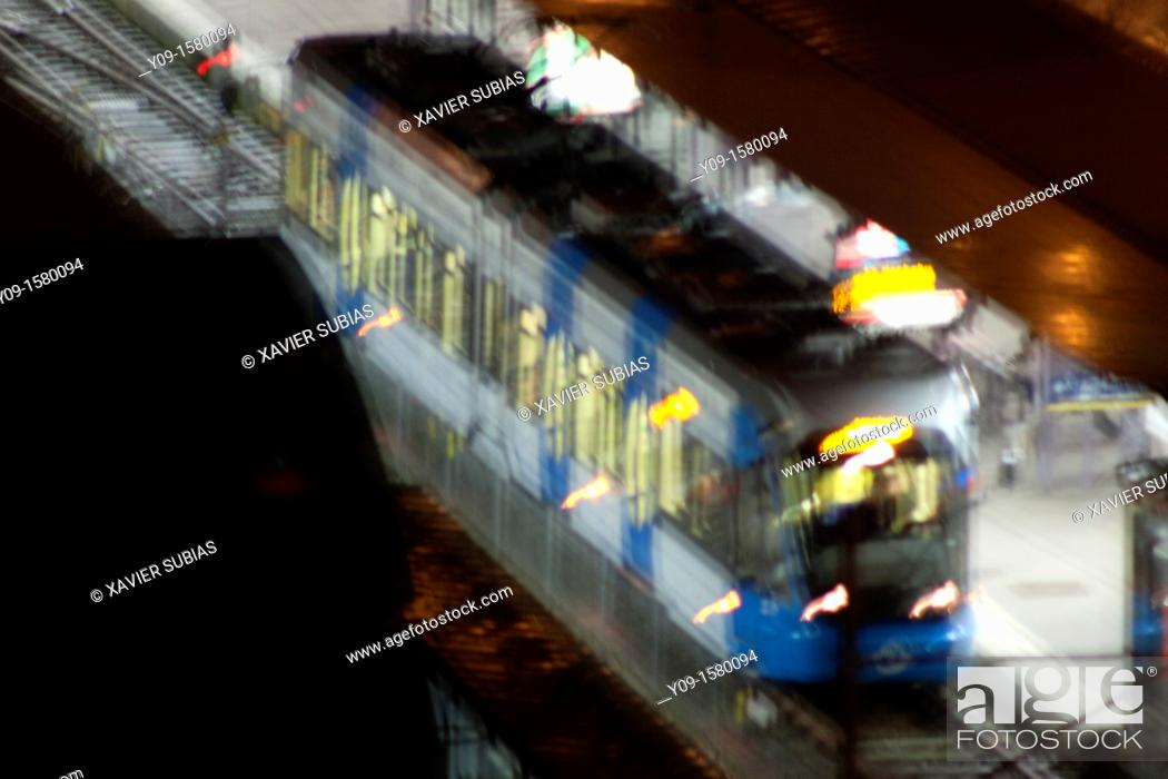 Stock Photo: Railway, Alvik T-bana underground station, Bromma, Stockholm, Sweden.