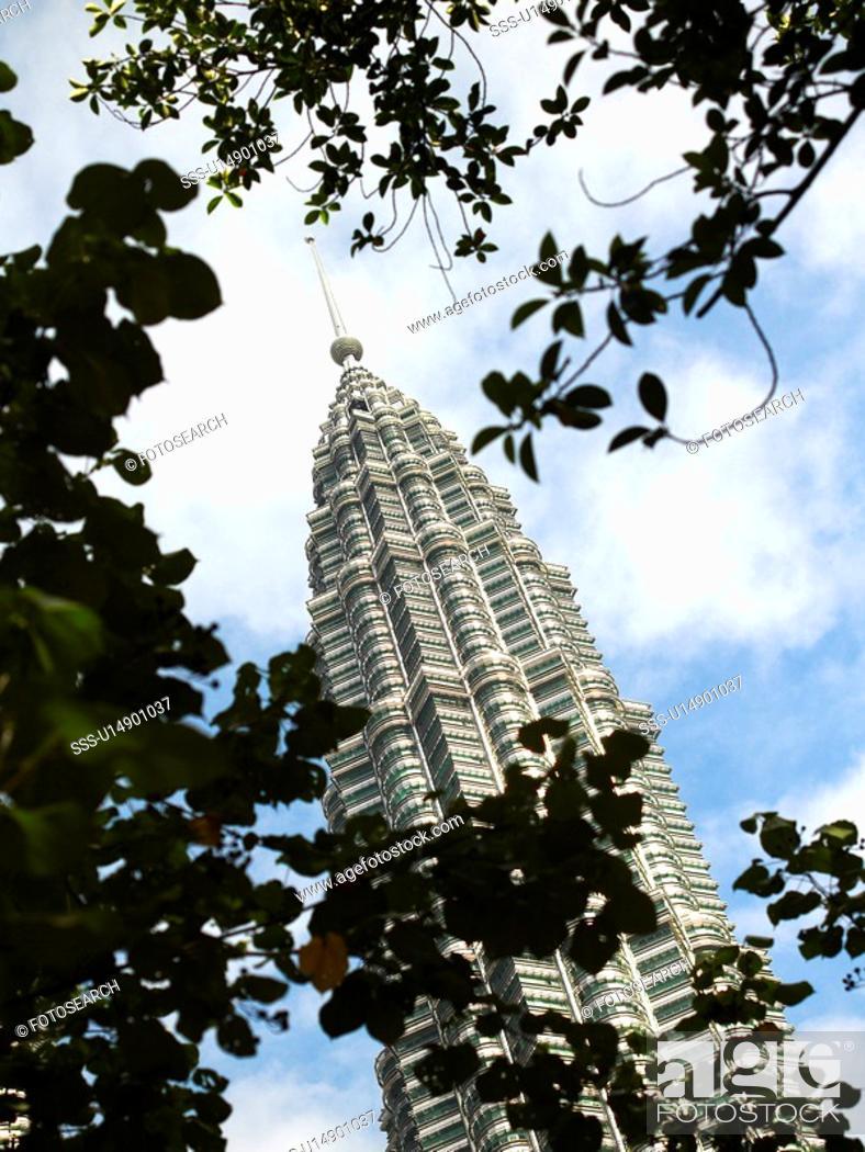 Stock Photo: Petronas Towers, Kuala Lumpur.
