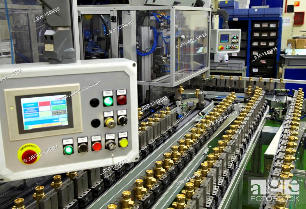 Stock Photo: Heating valves manufacturing, Gipuzkoa, Euskadi, Spain.