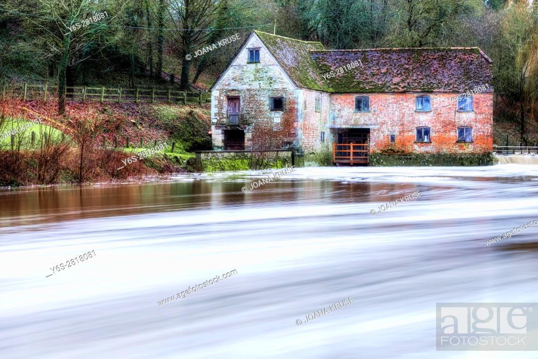 Stock Photo: Sturminster Newton Mill, Dorset, England, UK.
