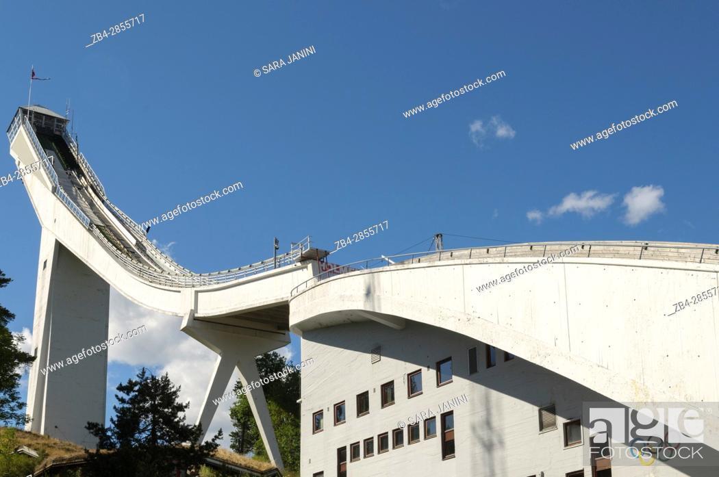 Stock Photo: Holmenkollen National Arena, Oslo, Norway, Europe.