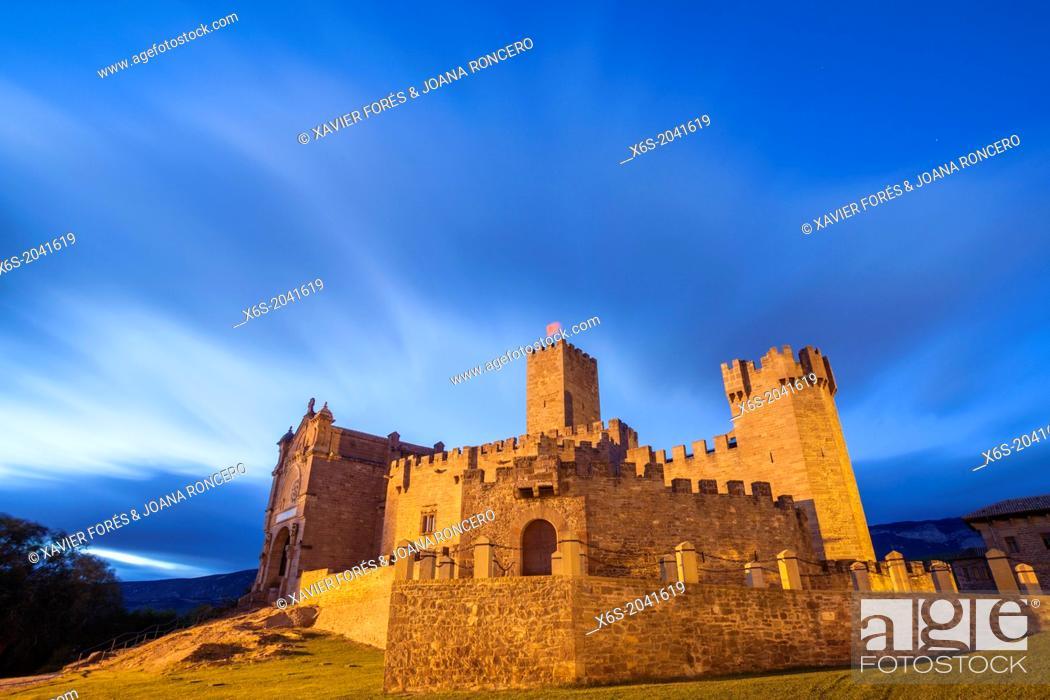 Stock Photo: Castle of Javier, Santuary of Javier, Javier, Navarra, Spain.