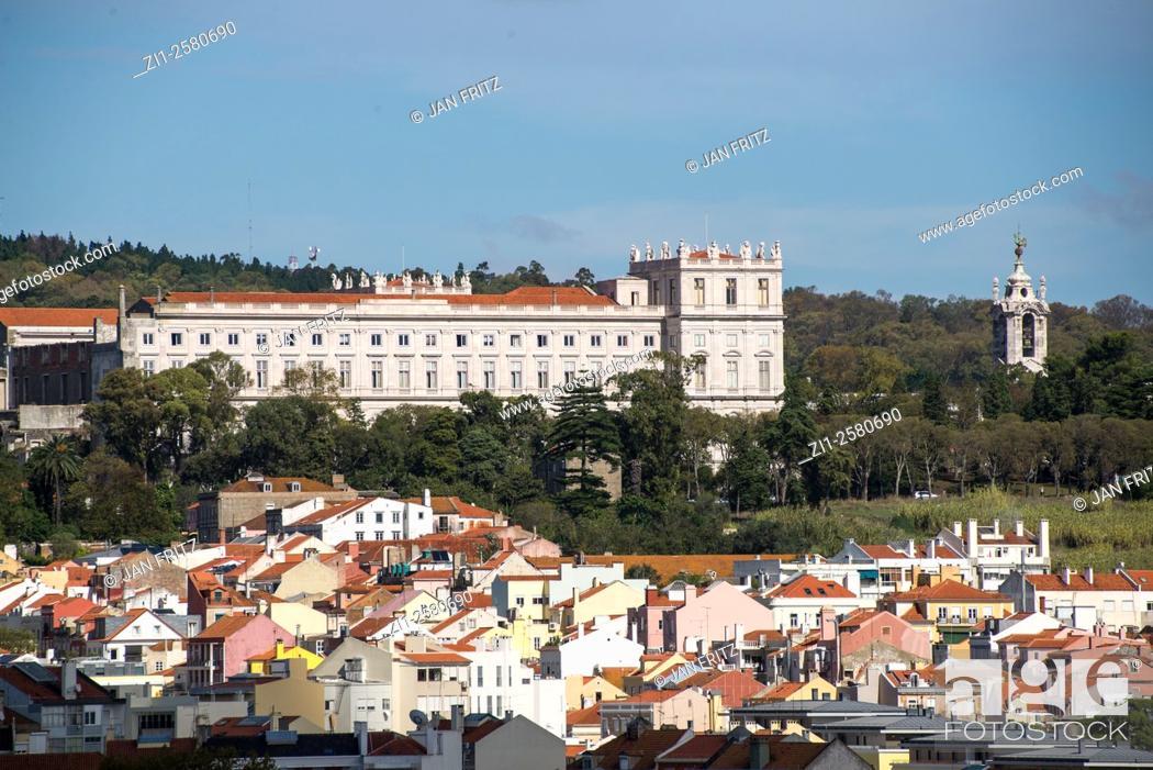 Stock Photo: aerial view at of alto da ajuda at lisboa portugal.