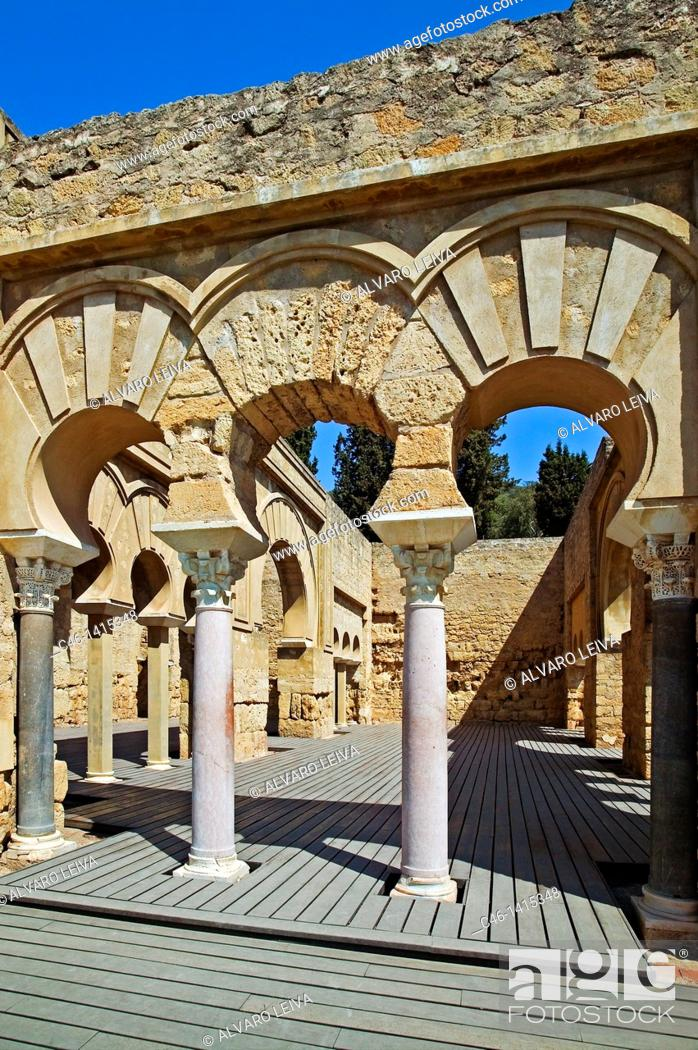Stock Photo: Ruins of Medina Azahara, palace built by caliph Abd al-Rahman III  Córdoba province, Andalusia, Spain.