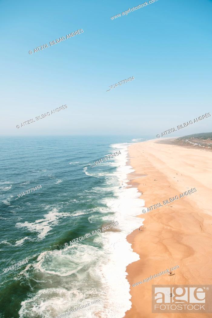 Stock Photo: Nazaré is a municipality located in the Oeste region and Leiria District of Portugal. The village belongs to the historic province of Estremadura.
