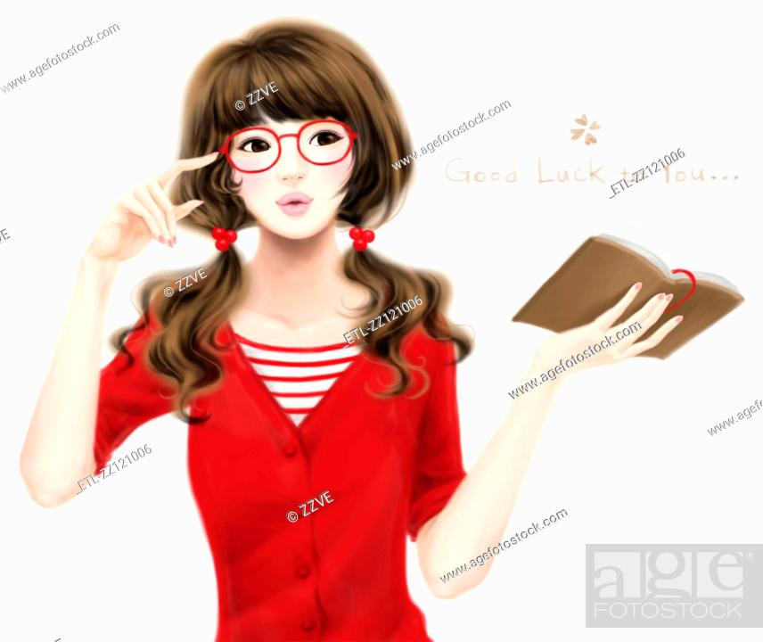 Stock Photo: Romantic Girl.