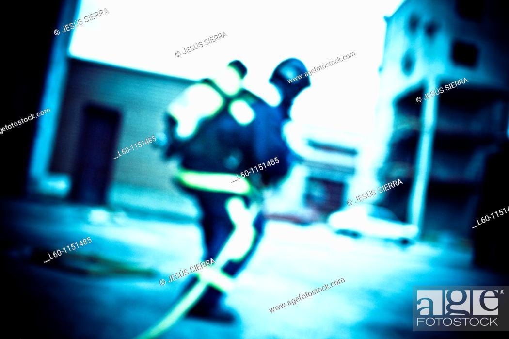 Stock Photo: Trained fireman.