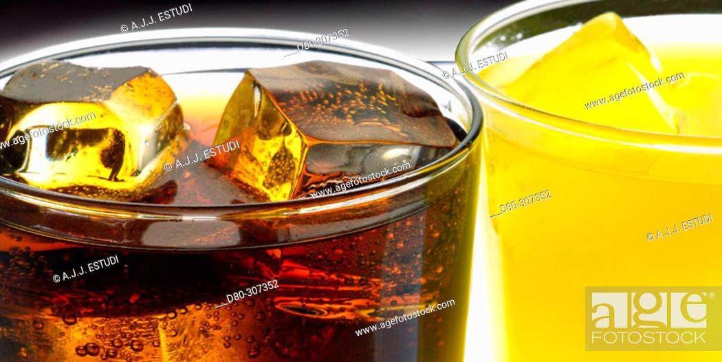 Stock Photo: Soft drinks.