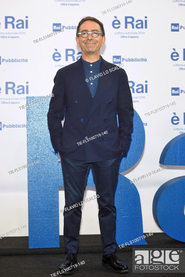 Stock Photo: Pino Strabioli during the Rai programming launch in Milan, ITALY-09-07-2019.