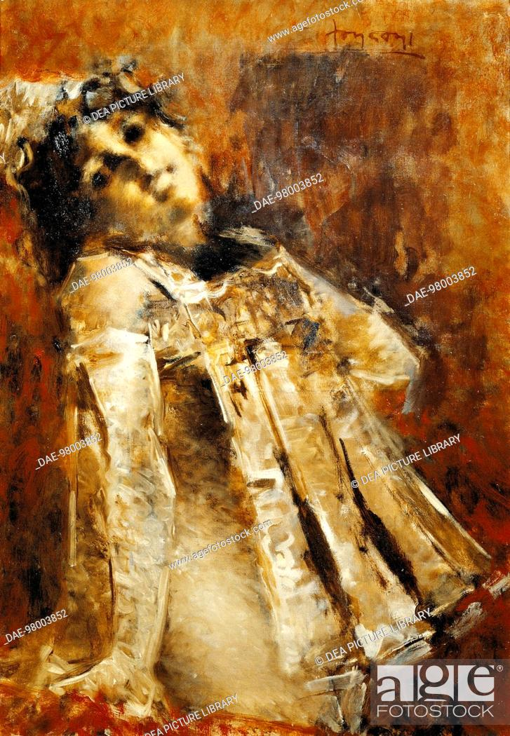 Stock Photo: Ecstasy, by Luigi Conconi (1852-1917).  Private Collection.