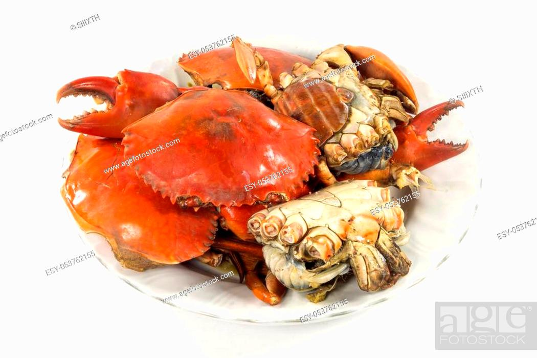 Stock Photo: Steamed crab.