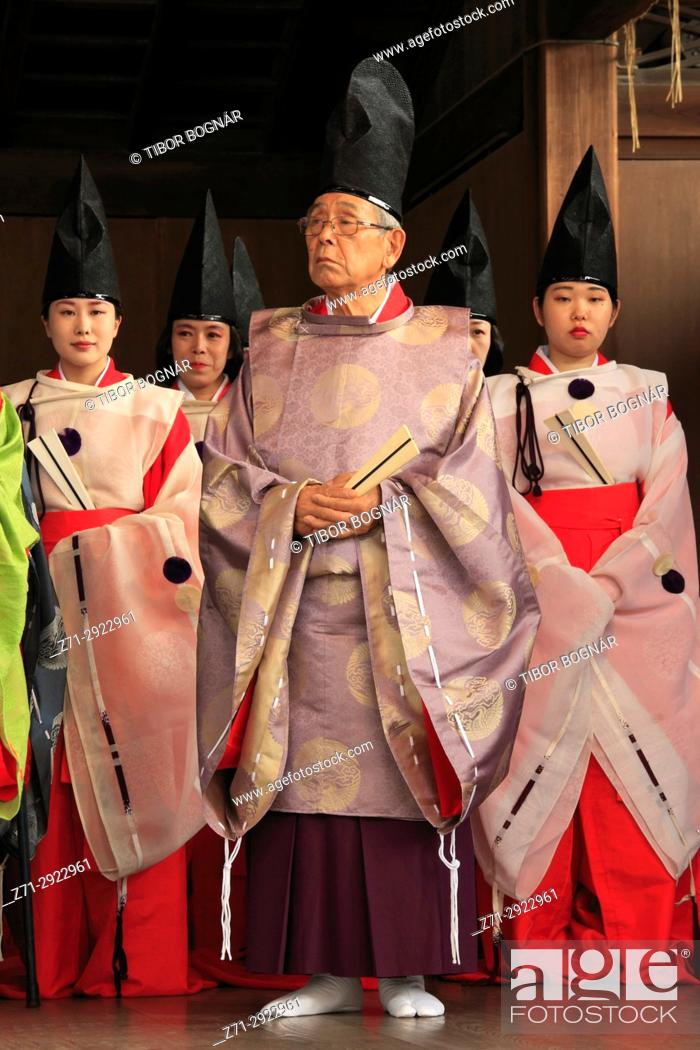 Stock Photo: Japan, Kyoto, Gion Matsuri, festival, traditional performance, people,.