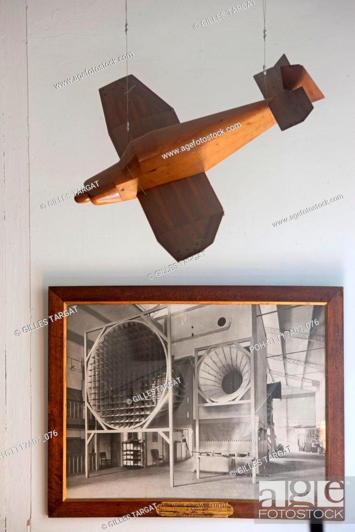 Stock Photo: Paris, 67 rue boileau, laboratoire aerodynamique eiffel, tests, trials, wind tunnel, engineers, Photo Gilles Targat.