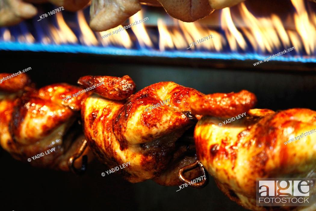 Stock Photo: Grilled chicken restaurant, Aqaba, Jordan.