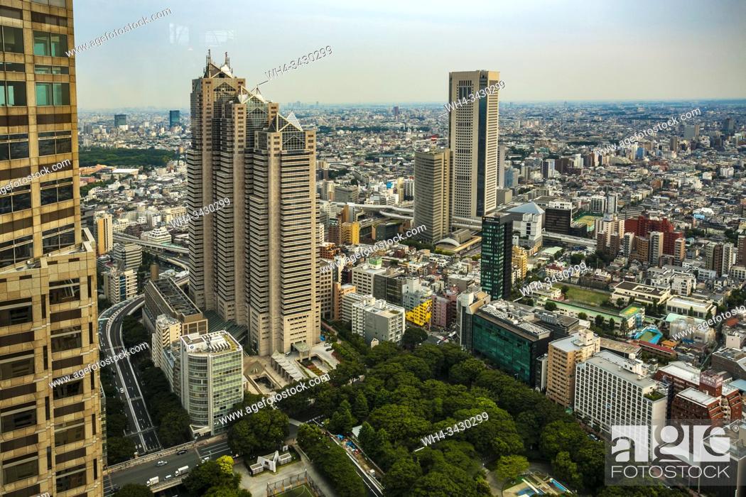 Imagen: View from Tokyo Metropolitan Government Building or Tocho. Shinjuku district, Tokyo, Japan, Asia.