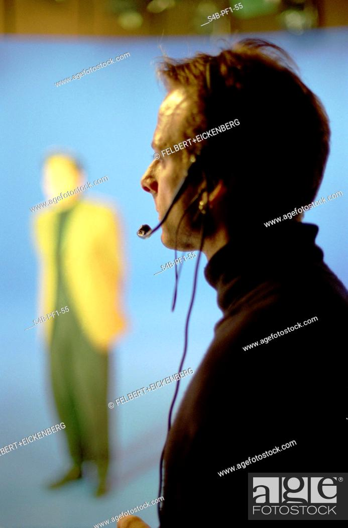 Stock Photo: Mann with Headset.