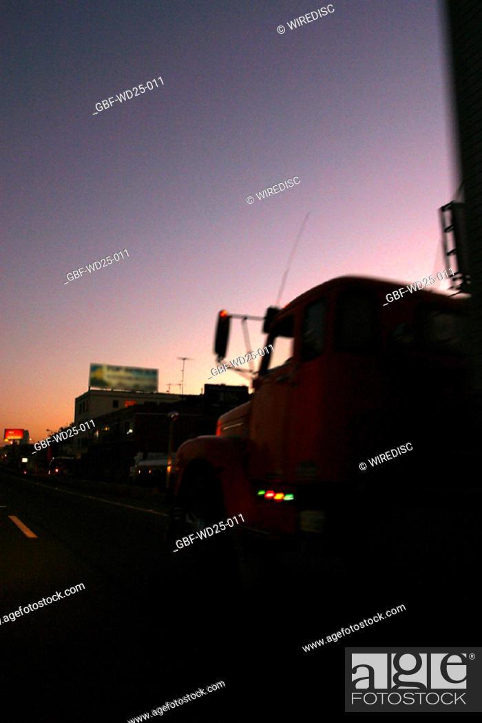 Stock Photo: Transport, truck, road.