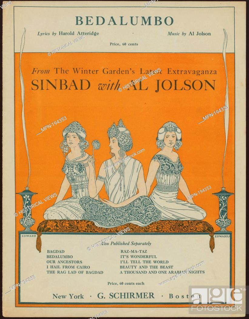 Stock Photo: Bedalumbo Additional title: Sinbad. Bedalumbo. Vocal score. Atteridge, Harold Richard (1886-1938) (Lyricist) Edwards, Edward B.