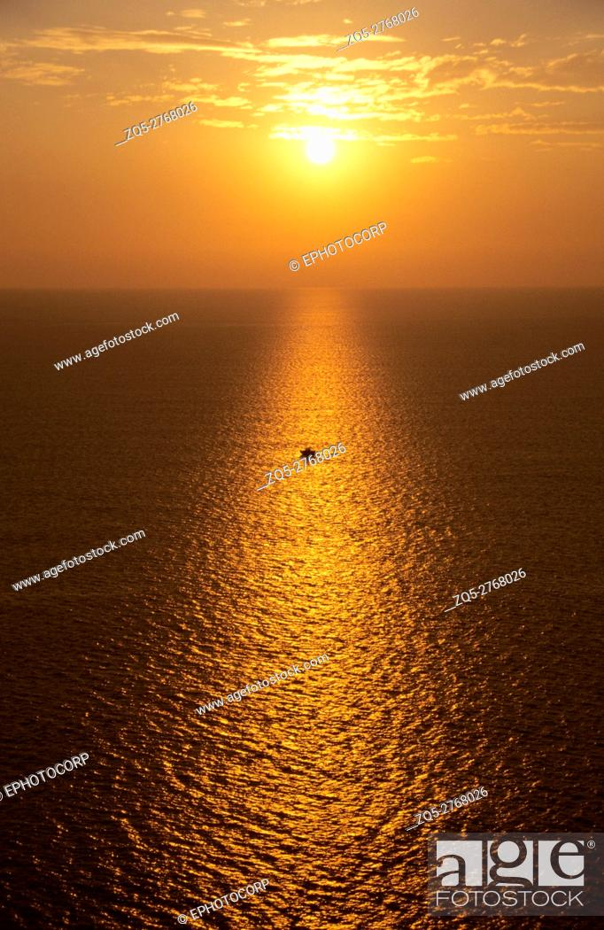 Stock Photo: Sunset, at Arabian Sea, Konkan Maharashtra, India.