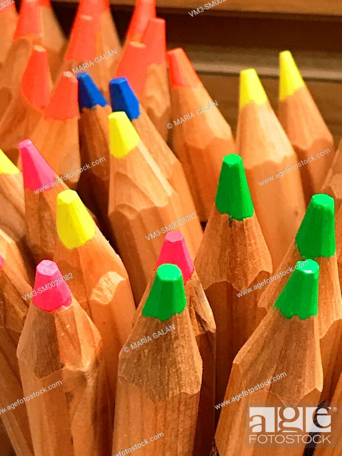 Stock Photo: Color pencils. Close view.