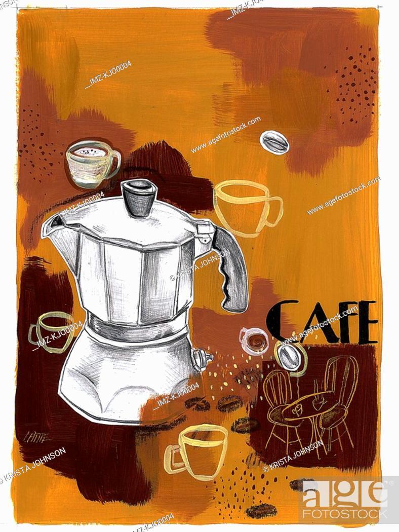 Stock Photo: coffee break.