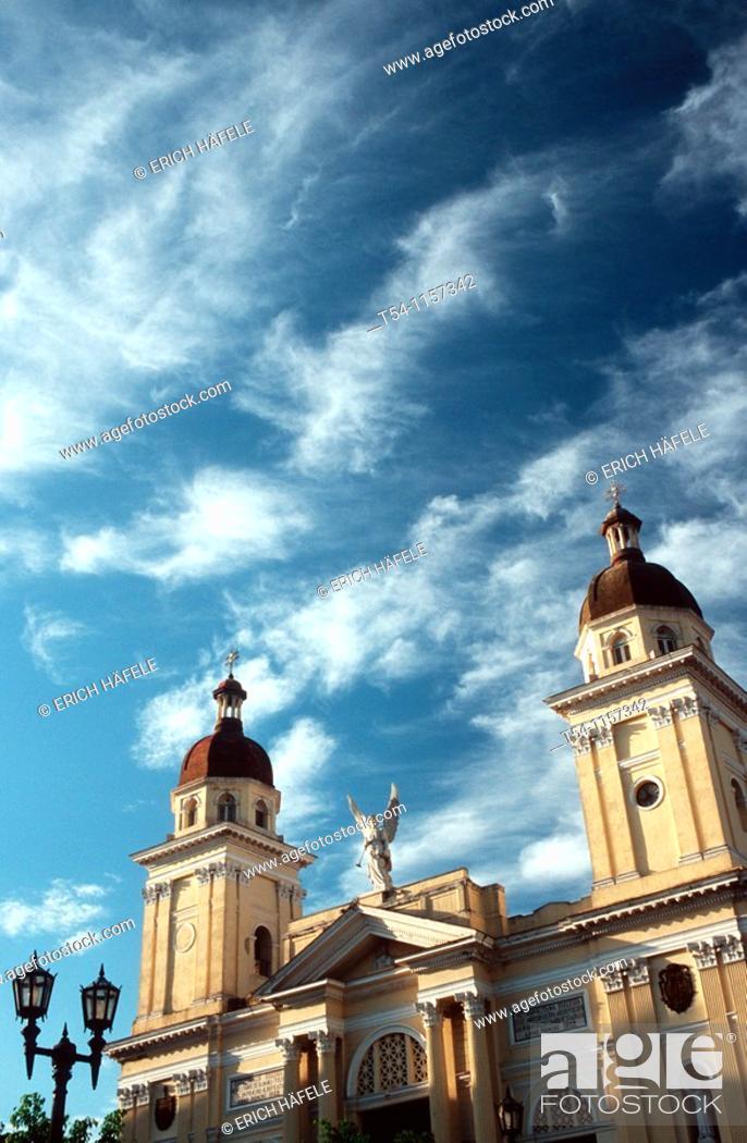Stock Photo: Catedral de la Asuncion in Santiago de Cuba.