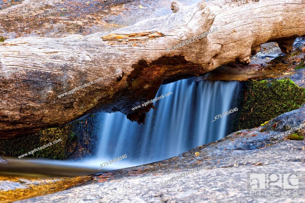 Stock Photo: Waterfall. Navafria. Segovia Province. Castilla y Leon. Spain.