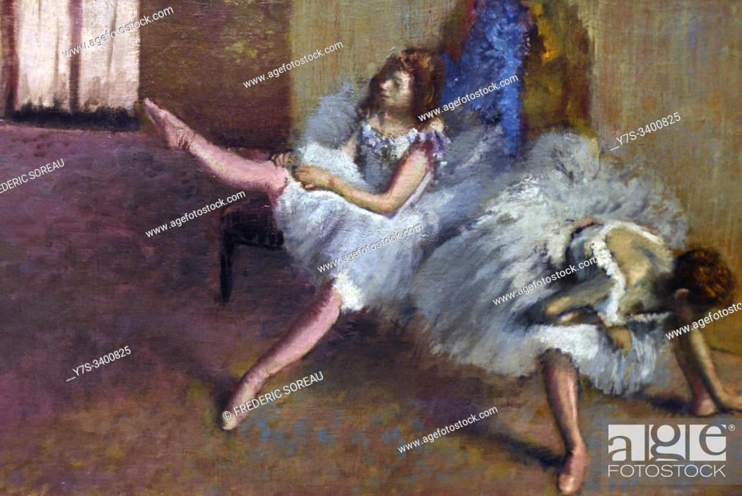 Stock Photo: Dans une salle de répétition, 1890-1892, oil on canvas, Edgar Degas, Washington, National Gallery of collection Widener.